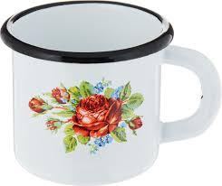 """<b>Кружка</b> эмалированная <b>Эмаль</b> """"Розы"""", <b>250 мл</b> — купить в ..."""