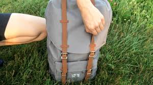 Обзор <b>рюкзака Herschel</b> Little America GREY/TAN SYNTHETIC ...