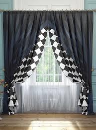 Купить <b>комплект штор томдом</b> танто, белый, черный, синий ...