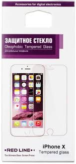 <b>Защитное</b> стекло для Apple iPhone X (Full <b>Screen</b>) черный, <b>Redline</b>