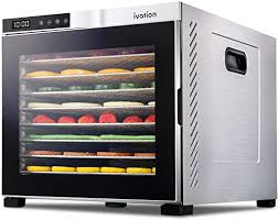 Ivation 10 Tray Commercial Food Dehydrator Machine ... - Amazon.com