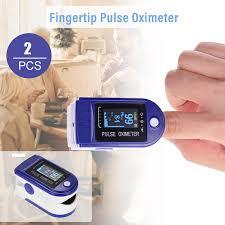 <b>2PCS</b> Mini <b>Digital Fingertip Pulse Oximeter Pulse</b> Rate Blood ...