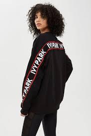 Womens <b>Flat Knit Unisex</b> Sweatshirt by Ivy Park - Black | Lifestyle ...