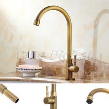 small antique brass bathroom faucet