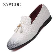 <b>SYWGDC</b> New Fashion <b>Men</b> Formal Patent <b>Leather</b> Flat Slip on ...