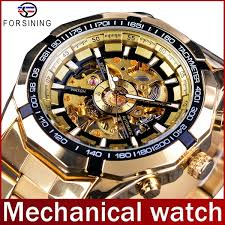 FORSINING Men's <b>Automatic Mechanical</b> Watches Stainless Steel ...