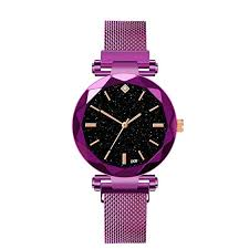 Buy Lailailaily <b>Women Watch Ladies Magnetic</b> Starry Sky Clock ...