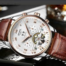 <b>KINYUED</b> Swiss Watch <b>Automatic</b> Hollow Tourbillon Mechanical ...