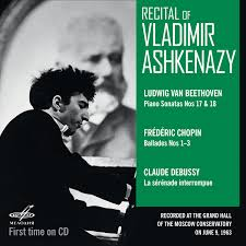 Recital of <b>Vladimir Ashkenazy</b>. Moscow, June 09, 1963 (Live) (1 CD ...