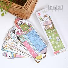 <b>30 pcs</b>/<b>lot Cute Funny Cat</b> Shaped Paper Bookmark Gift Stationery ...