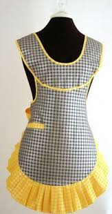 Black and white <b>polka dot</b> on yellow gingham | Платье <b>фартук</b> ...