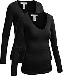 ToBeInStyle Women's <b>V</b>-<b>Neck Long Sleeve</b> Top at Amazon ...