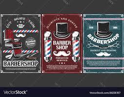 <b>Barbershop</b> poles <b>hairdresser</b> chair and <b>mustache</b> Vector Image