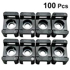100pcs cable base mounts self adhesive wire zip tie bases wall holder fixing seat clamps sticky socket 12 5mm