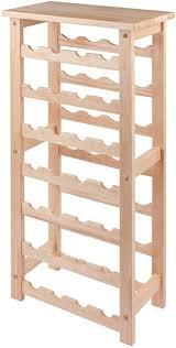 Winsome Wood 28-Bottle Wine Rack: Home & Kitchen - Amazon.com