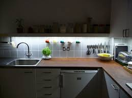 Under Cabinet Kitchen Light Awesome Led Under Counter Lighting Kitchen In Interior Remodel