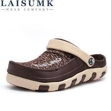 <b>LAISUMK</b> Summer Soft Bottom Beach <b>Sandals</b> Men <b>Shoes Driving</b> ...