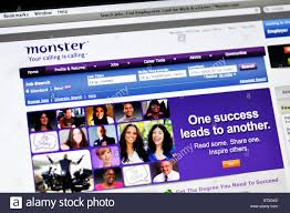 online jobs website monster com stock photo royalty image online jobs website monster com