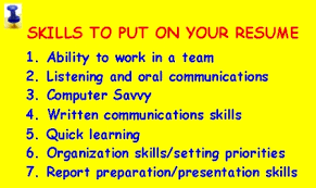 skills to put on resume   the new canadianstips for writing resume