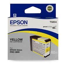 <b>Epson T5804 Yellow</b> Ink Cartridge - Clickinks.com