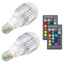 <b>2pcs 10W</b> RGB Color Changing Light Bulbs E27 <b>LED</b> RGB Lamp ...