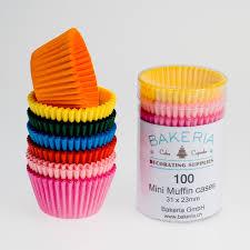 Mini Cupcake Liners Rainbow Colours, 100 pcs - Bakeria