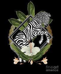 Elegant <b>Hawaiian Zebra</b> Lover Leaf <b>Floral</b> Savannah Animal Digital ...