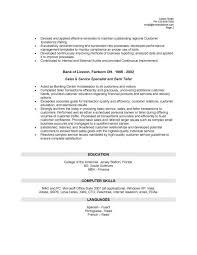 home samples for bank teller position winning resumes examples
