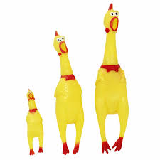 Funny Dog Gadgets Novelty <b>Yellow Rubber Chicken</b> Pet Dog Toy ...