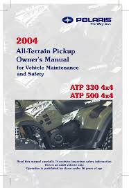 <b>Polaris</b> ATP 500 4x4, ATP 330 4x4 User Manual
