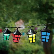 GardenKraft 17300 70 <b>LED Lantern String Lights</b> Outdoor ...