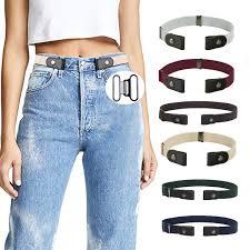 <b>Awaytr Unisex Buckle Free Elastic</b> Jeans Pants Dress Free Stretch ...
