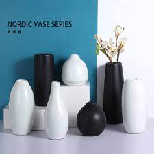 Home Vase <b>Decoration</b> Ceramic Flower Insert Creative <b>Nordic</b> ...