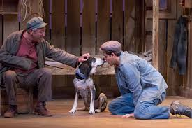 my cultural landscape  charles branklyn and aj meijer in a scene from of mice and men photo by tracy martin