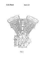 engine drawing 1942 Транспорт engine and drawings usa patent harley davidson v twin engine drawings