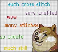 PDF Cross Stitch Pattern Doge Stitch by StitchadeeDesigns on Etsy via Relatably.com
