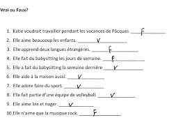 french exemplification standards file level mfl french reading activity on a job application