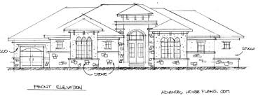 Street of Dreams Early sketch of Street of Dreams Home by Advanced House Plans