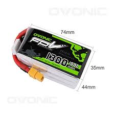 <b>Ovonic</b> 1300mAh <b>22.2V</b> 6S <b>100C</b> Lipo Batter- Buy Online in ...
