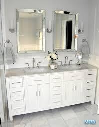 before and after small bathroom makeovers big on style bathroom ideas greatbathroom vanity mirror bathroom vanity barnwood mirror oyster pendant lights
