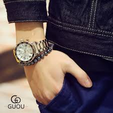 NEW <b>Famous</b> Brand GUOU <b>Luxury Watch Men</b> stainless steel ...