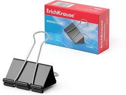 <b>Зажимы для бумаг</b> ErichKrause, 51 мм, 12 шт — купить в ...