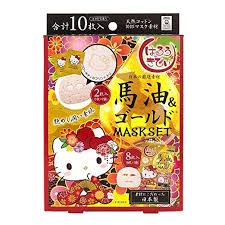 <b>Japan Gals</b> – Hello Kitty Horse Oil and Gold Mask Set | Gold mask ...