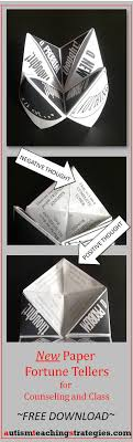 best ideas about cognitive behavioral therapy this paper fortune teller one of a new set of 3 helps children to