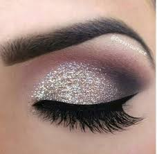 prom makeup for hazel eyes and a pink with silver strip dress google search