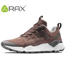 RAX <b>New Men's Hiking</b> Shoes Leather Waterproof Cushioning ...