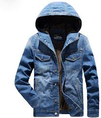 OSTELY Jean Jacket for <b>Men Autumn Winter Plus</b> Size Casual Solid ...