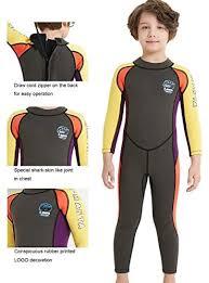 Neoprene <b>Kids</b> Wetsuit for <b>Boys</b> Girls 2.5MM <b>One Piece</b> Full Body ...