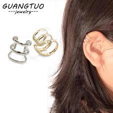 <b>Punk</b> Hollow <b>U Shape</b> Clip Earrings Non Pierced Ear Bone Ear ...