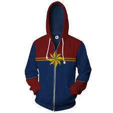 Dykhmily <b>Captain Marvel</b> man women <b>hot sale</b> zipper hoodie ...